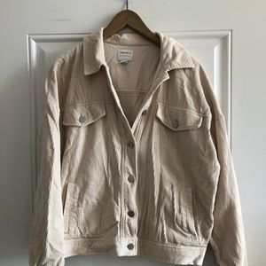 Forever 21 off white corduroy jacket  - SM